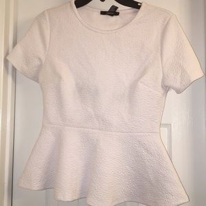 Be Pure in this all white Peplum Top